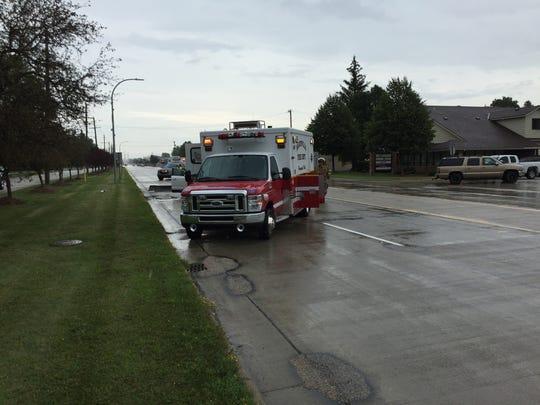 Rescue crews respond to a crash on Gratiot Boulevard in Marysville Wednesday.