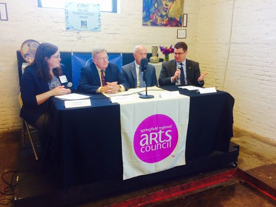 In 2017, Springfield Regional Arts Council announced a study that provided hard data on the local arts economy, for the first time. A news conference included  including Leslie Forrester, executive director of the council; Mayor Ken McClure, Tracy Kimberlin, president of the Springfield Missouri Convention and Visitors Bureau; and Matt Morrow, president of the Springfield Area Chamber of Commerce.