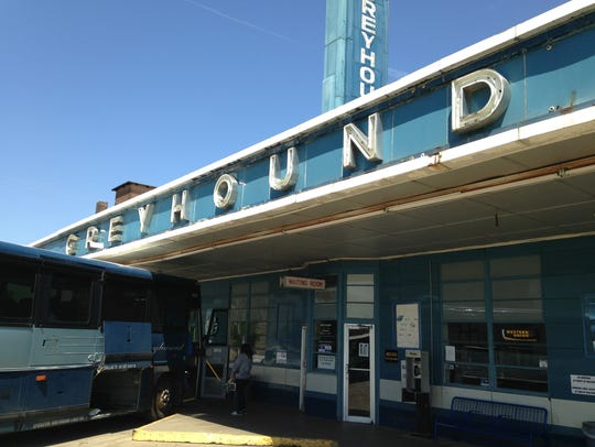 The Greyhound Bus Station in Jackson, Tenn.