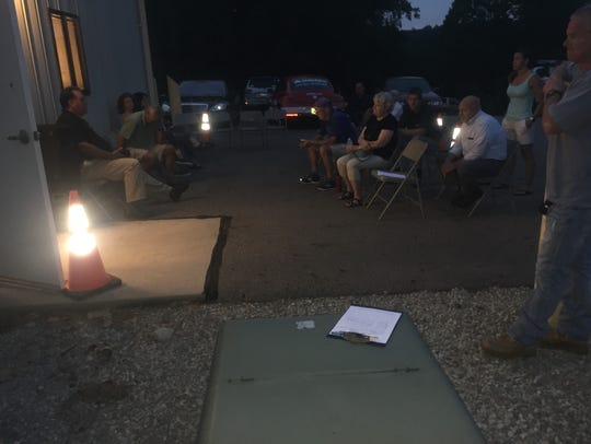 Fire code concerns resulted in overflow crowd being