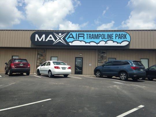 Exterior shot of Max Air Trampoline Park.