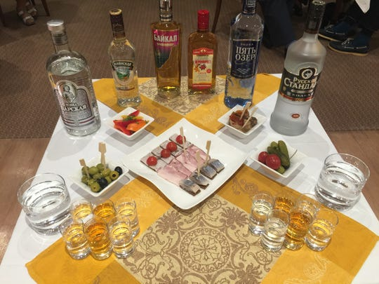 A vodka tasting with local favorites is lively event