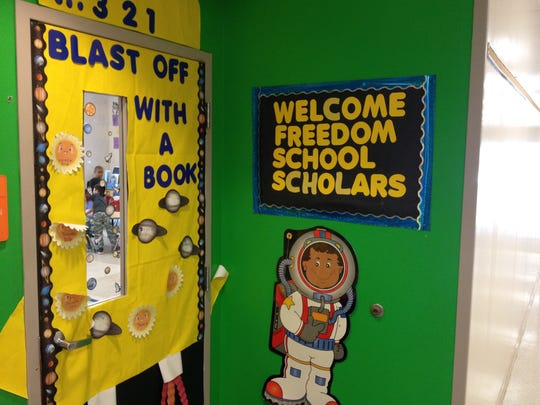 Promoting summertime reading to bridge the gap before schools open is a goal of the North Florida Freedom Schools. Classrooms feature positive reinforcement messages.