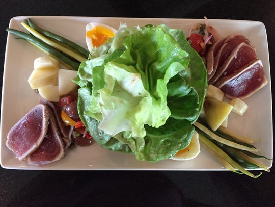 This Nicoise salad from Bistro by the Tracks is prepared
