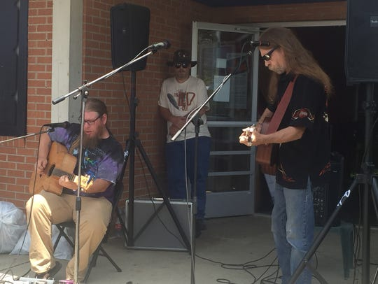 Local Band Detroit Klutch plays on Saturday at a fundraiser