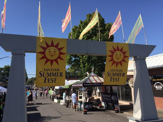 Santiam SummerFest: 23rd annual vendor street fair with food, brews, live entertainment, family fun zone, car show and art show, 10 a.m. to 6 p.m. Saturday, July 28, downtown Stayton. Free.