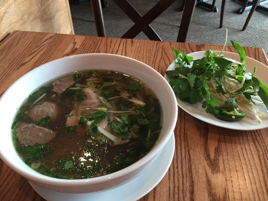 A bowl of beef pho at Minh's Bistro, a Vietnamese restaurant in Rehoboth Beach.