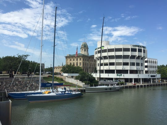 Sailboats have started to arrive in Port Huron for Saturday's race to Mackinac Island.