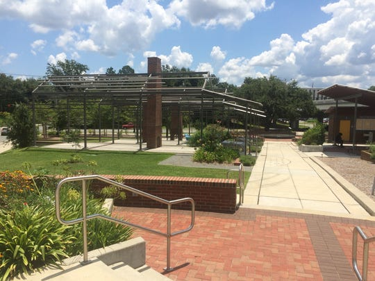 Spirit Houses stand near Cascades Park commemorating
