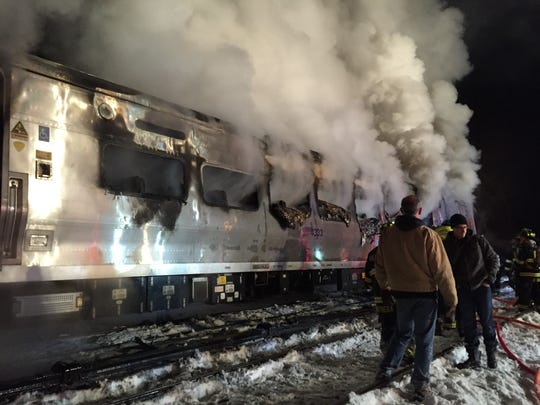 The scene of the Feb. 3 Valhalla train crash that killed
