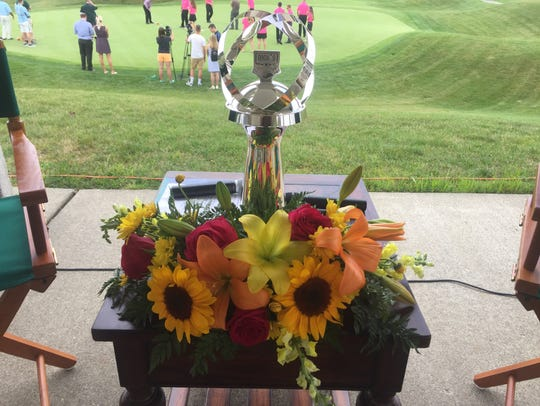Dick's Sporting Goods Open trophy.