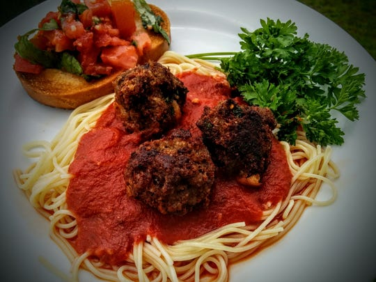 Cooking with Carrie is a new company that delivers meals such as spaghetti with homemade meatballs to the Milton and Pace areas.