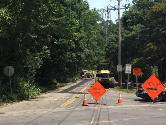 South Mountain Road, seen here, was closed Friday as