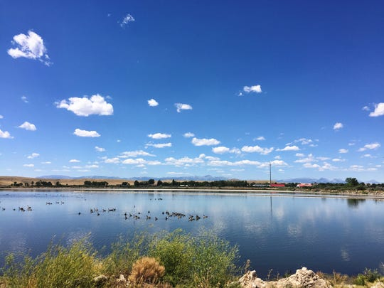 Choteau's 70-year-old  sewer lagoon (pictured) has been replaced by a complex water treatment system.