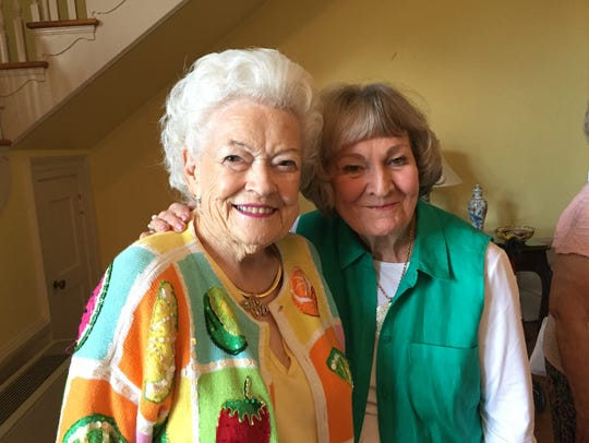 Virginia Joyner, Martie Powell at 90th birthday party