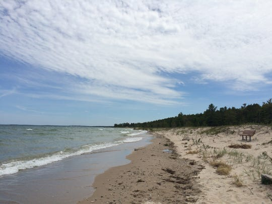 Hoeft State Park on Lake Huron.