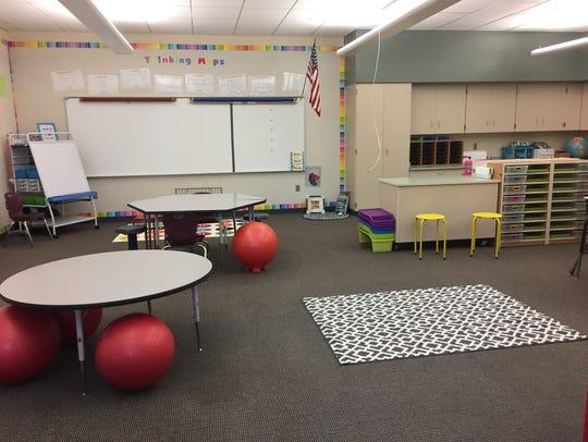 Kristen Cannady's fourth grade classroom in Smoky Row