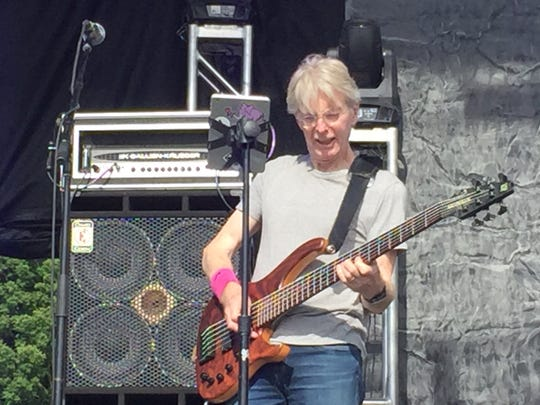 Grateful Dead co-founder Phil Lesh plays with his son's band, Midnight North, Friday at Waterfront Park in Burlington.