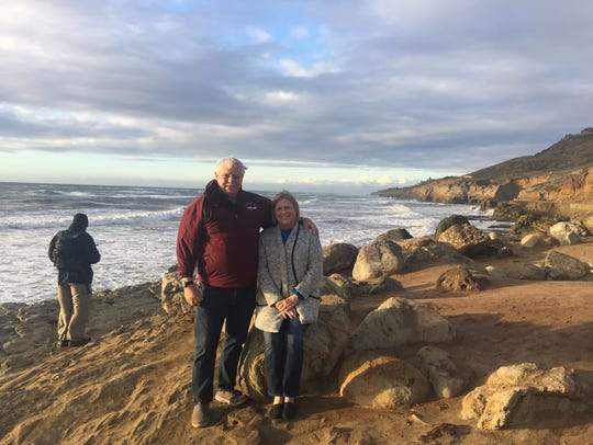 Joe and wife, Linda enjoying California