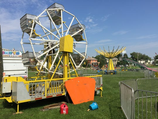 Amusement rides are ready for the Baltimore Festival.