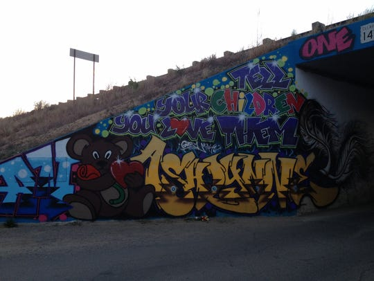 A portion of a mural memorializing the late Ashlynne
