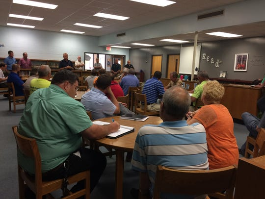 Contractors and subcontractors meet Thursday last week
