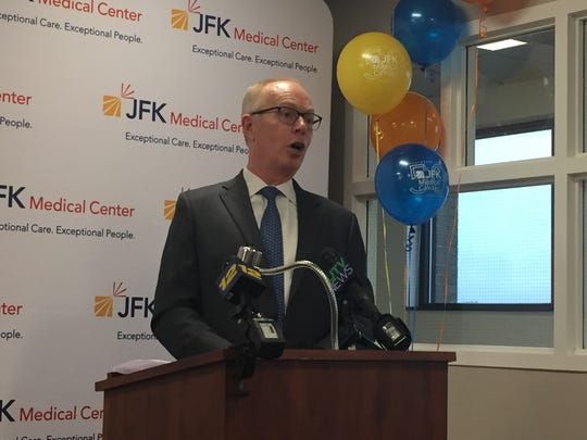 JFK Medical Center in Edison has been celebrating its 50th birthday all year with various events and programs. Raymond Fredericks, president and CEO of JFK Health, spoke at Monday's celebration.