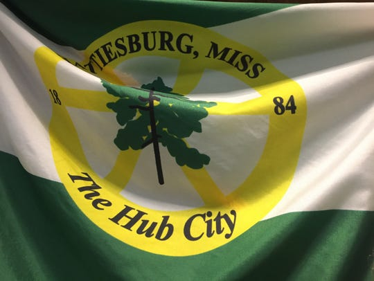 The current Hattiesburg city flag.