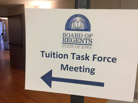 In response to its state funding being cut by more than $30 million this year, the Iowa Board of Regents has a convened a Tuition Task Force to hold meetings at each of the state's three public universities.
