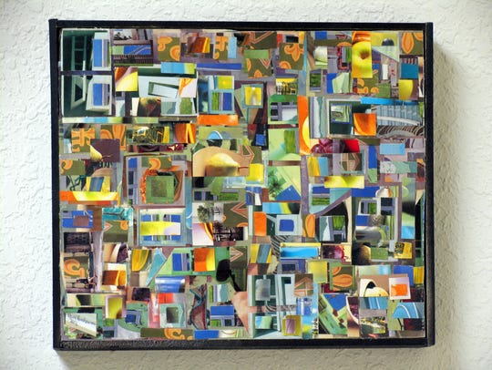 One of the abstract works of Paul Karchawer that will