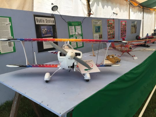 A model airplane at the Somerset County 4-H Fair.