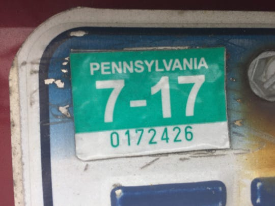 Pa  registration stickers: Legislator wants to bring them back
