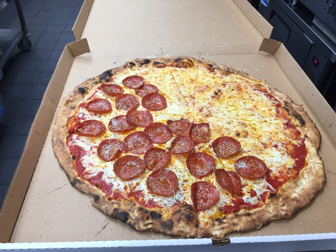 The large pizza at Ripieno's in Ocean City, a massive,
