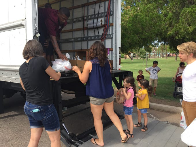 The Tempe Community Action Agency's food drive on Aug.