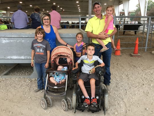 The Gotto family of rural Dyersville, from left: son