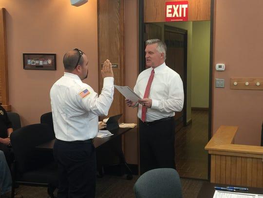 Robert Castillo is sworn in as Eddy County's deputy