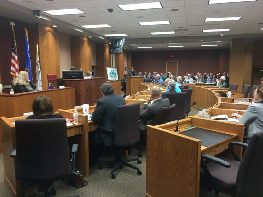 Members of the Green Bay City Council meet on Aug.