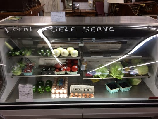Local produce available for customers at Marshfield