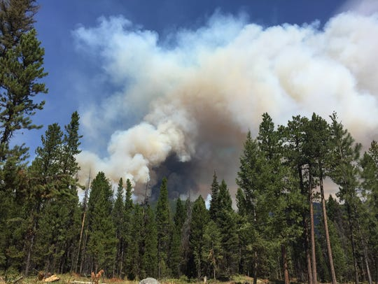 The Arrastra Creek fire was 41 percent contained as