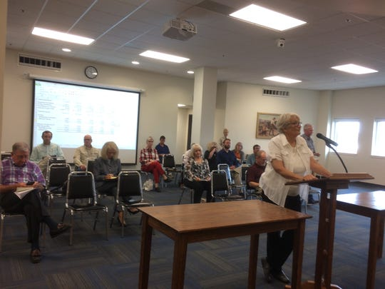 Mary Casper, a resident and taxpayer of Tom Green County, shared her thoughts at tax increase public hearing.