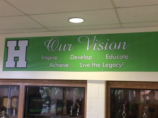 As part of the strategic planning process, there are now several locations on the Huntington campus where vision and mission statements are clearly displayed.