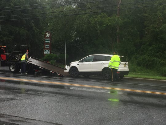 A Vineland woman, driving an SUV, was cited for careless