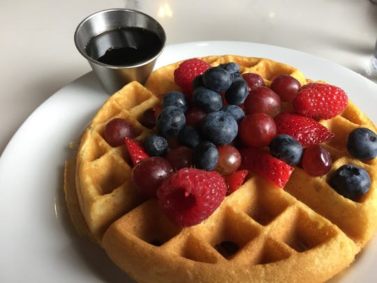 The fruit waffle from The Diner downtown Nashville