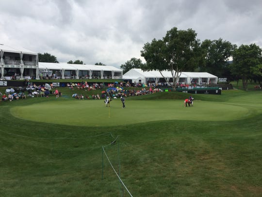 A view of En-Joie's 18th during Round 1 of the Dick's