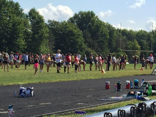 The Glen Este campus will not house students this school year. The West Clermont High School Marching Band took advantage of the available field there for practice.