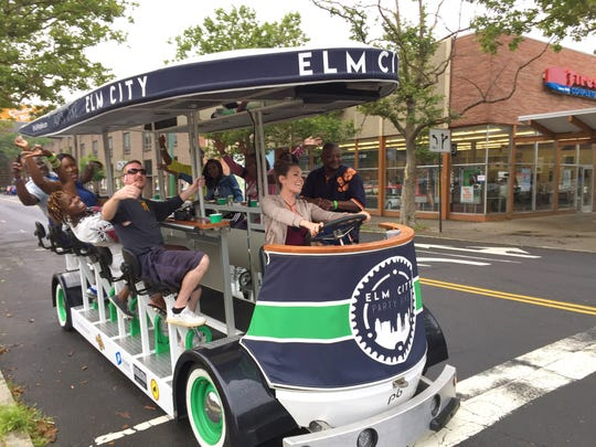 Party bike in New Haven, known as Elm City.