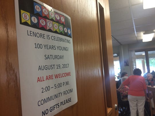 Lenore Ehlert celebrated her 100th birthday at a party with guests including family and local police officers Saturday in Merrill.