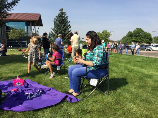 More than 500 people turned out to the Great Falls College MSU Campus Monday to view the solar eclipse.