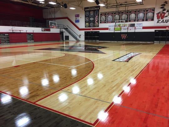 Wapahani's new gym floor.