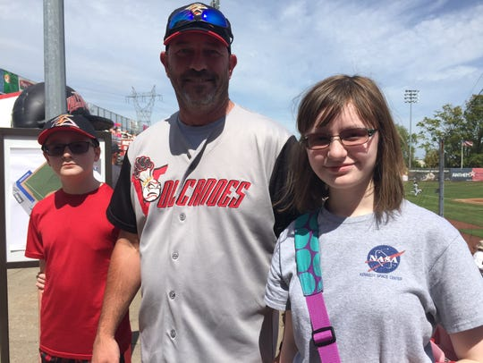 Andrew Otte with son, Michael (left) and daughter,
